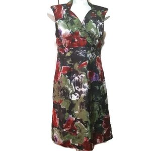 Sweet chemise soiree | satiny floral dress
